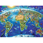World Landmarks Map - 200XXLpc