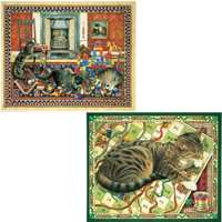 cats at play - 2 x 500 piece