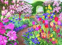 Garden Vistas - No 1 - Springtime Splendour - 500pc