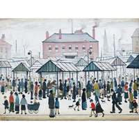Lowry - Market Scene - Northern Town - 500pc