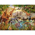 Animals at the Waterhole - 500pc