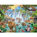 Waterfall in the Jungle - 1500pc