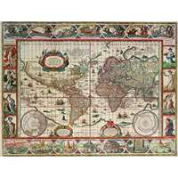 Map Of The World From 1650