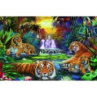 Tigers In The Waterhole