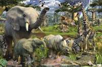 Animals at the Waterhole - 3000pc
