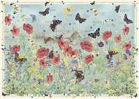 Country Diary of an Edwardian Lady - Jewels of the Air - Butterflies - 1000pc