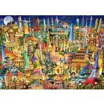 World Landmarks at Night - 1000pc