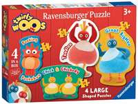 Twirlywoos - 4 Large Shaped Puzzles
