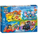 Paw Patrol - Four Large Shaped Puzzles - 10, 12, 14, 16pc