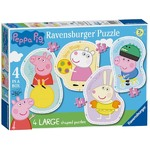 Peppa Pig - Four Large Shaped Puzzles