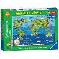Animals Of The World - 60 Piece Floor Puzzle