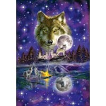 Wolf in the Moonlight - 1000pc