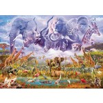 Animals at the Waterhole - 1000pc