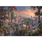 Thomas Kinkade - Lady and the Tramp - 1000pc