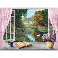 Tea Time - View on the Garden - 500pc